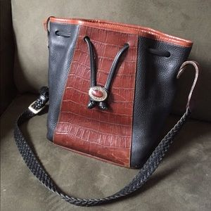 BRIGHTON  BLACK BROWN HAND SHOULDER BAG !